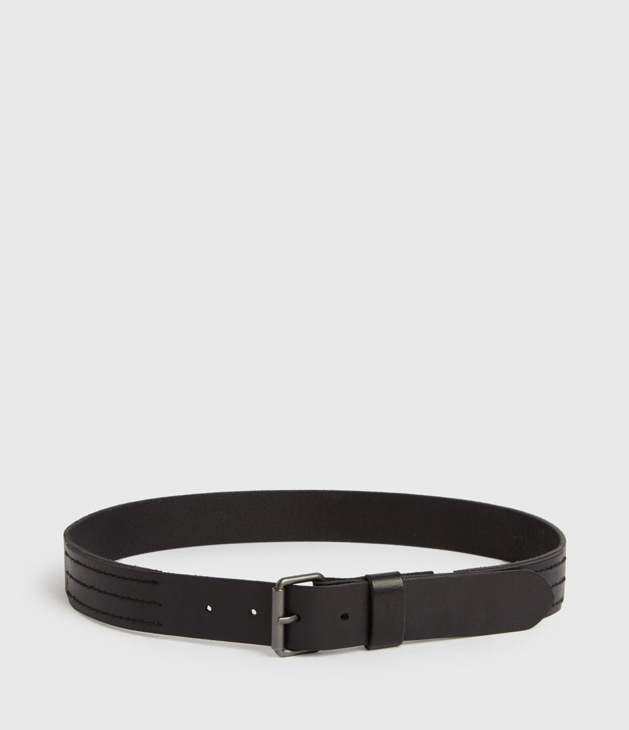 Men's Laxford Leather Belt (black) - Image 6