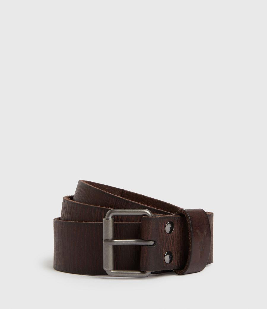 Mens Laxford Leather Belt (brown) - Image 1
