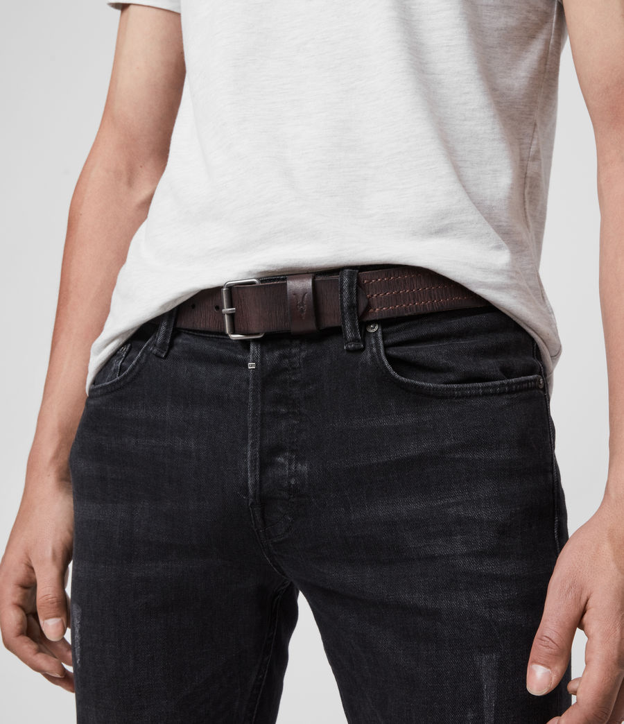 Mens Laxford Leather Belt (brown) - Image 2