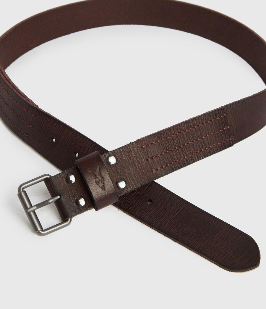 Mens Laxford Leather Belt (brown) - Image 3