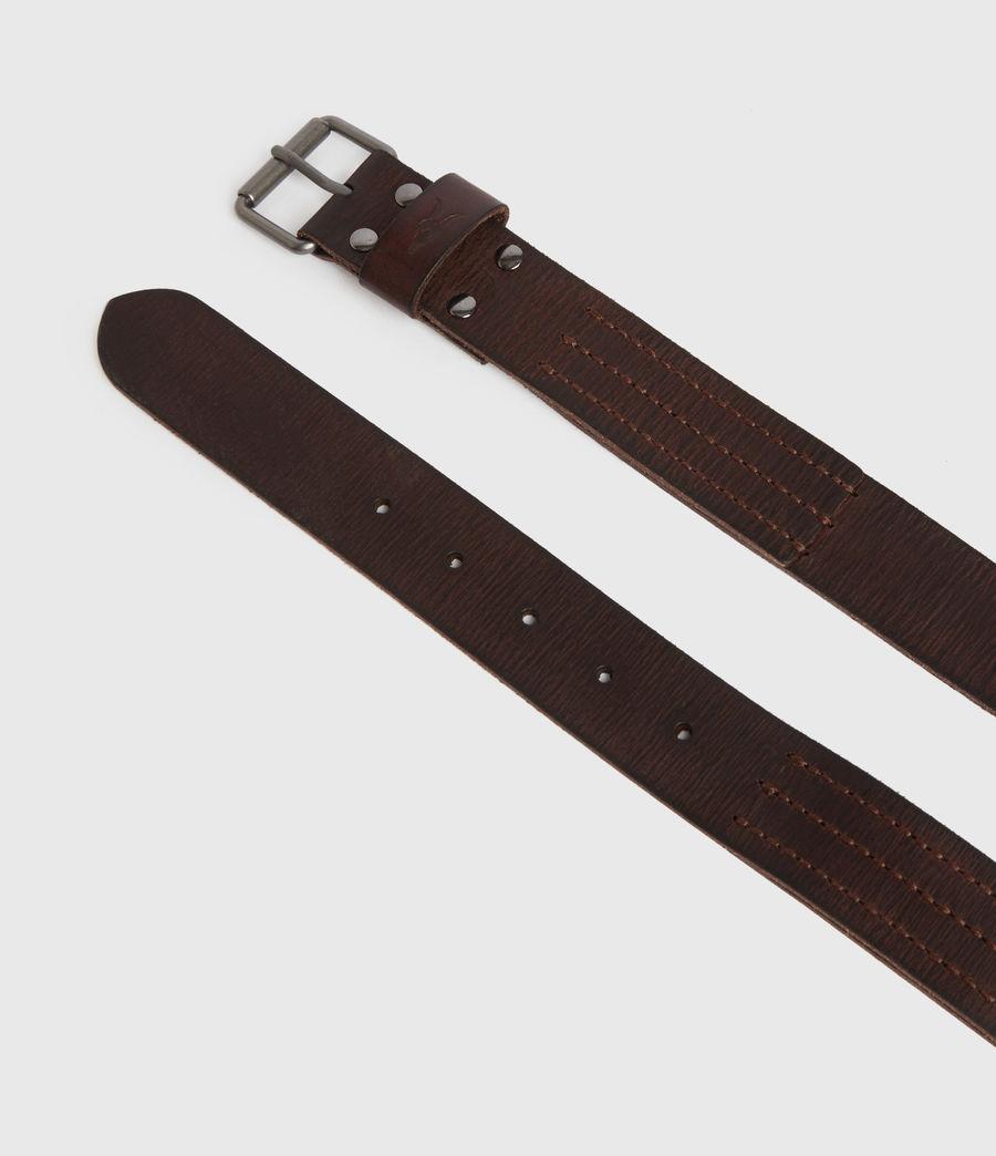 Mens Laxford Leather Belt (brown) - Image 4