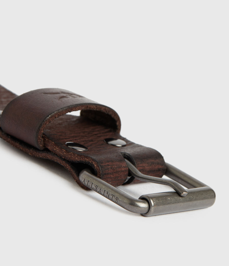 Mens Laxford Leather Belt (brown) - Image 5