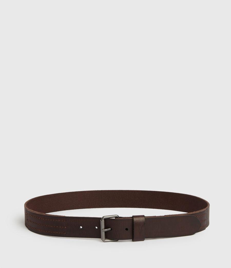 Mens Laxford Leather Belt (brown) - Image 6