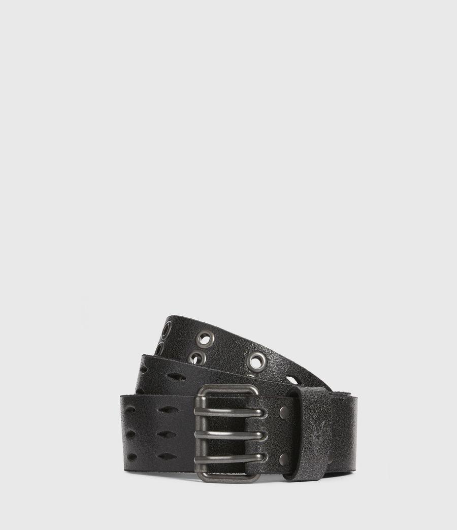 Mens Levi Leather Belt (black) - Image 1