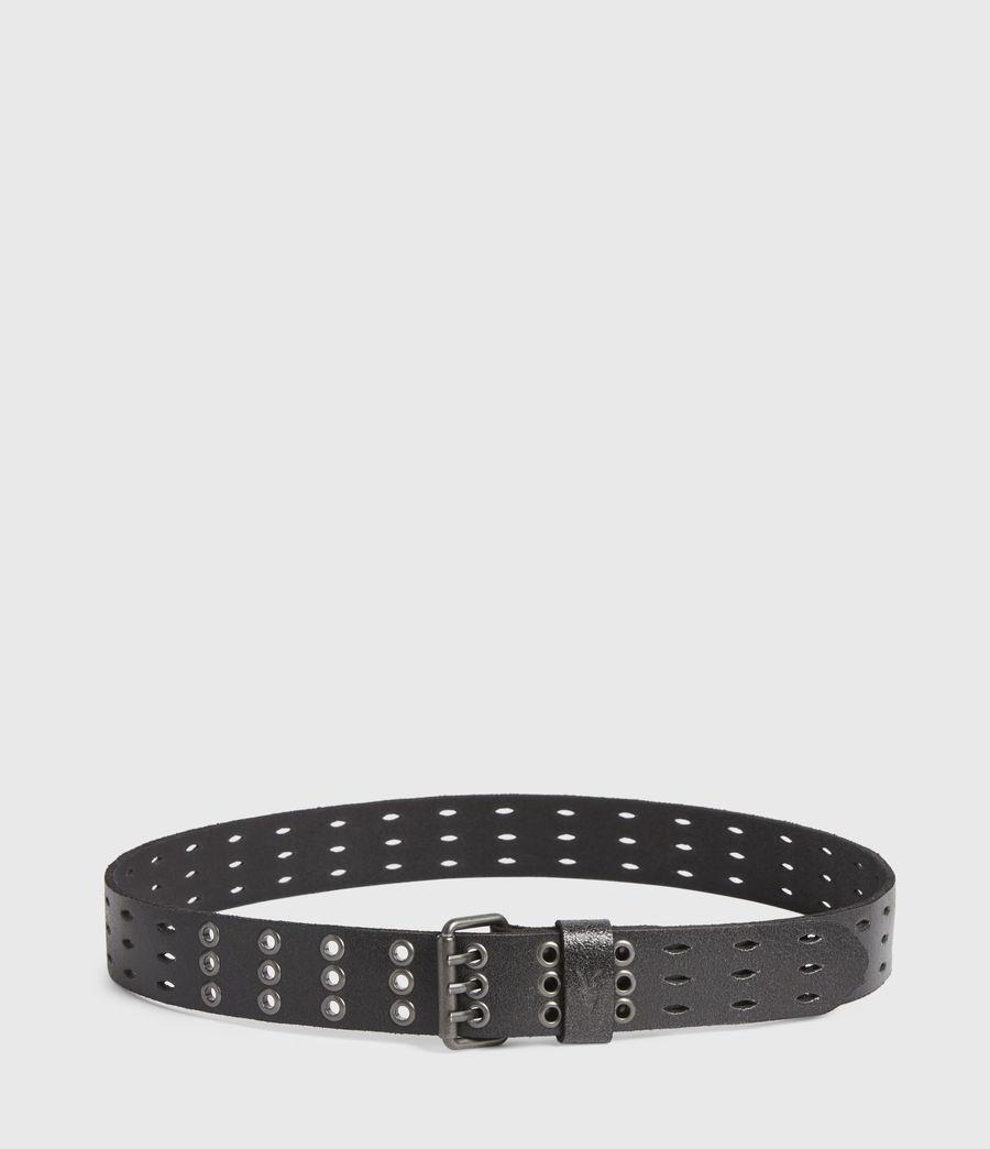 Mens Levi Leather Belt (black) - Image 4