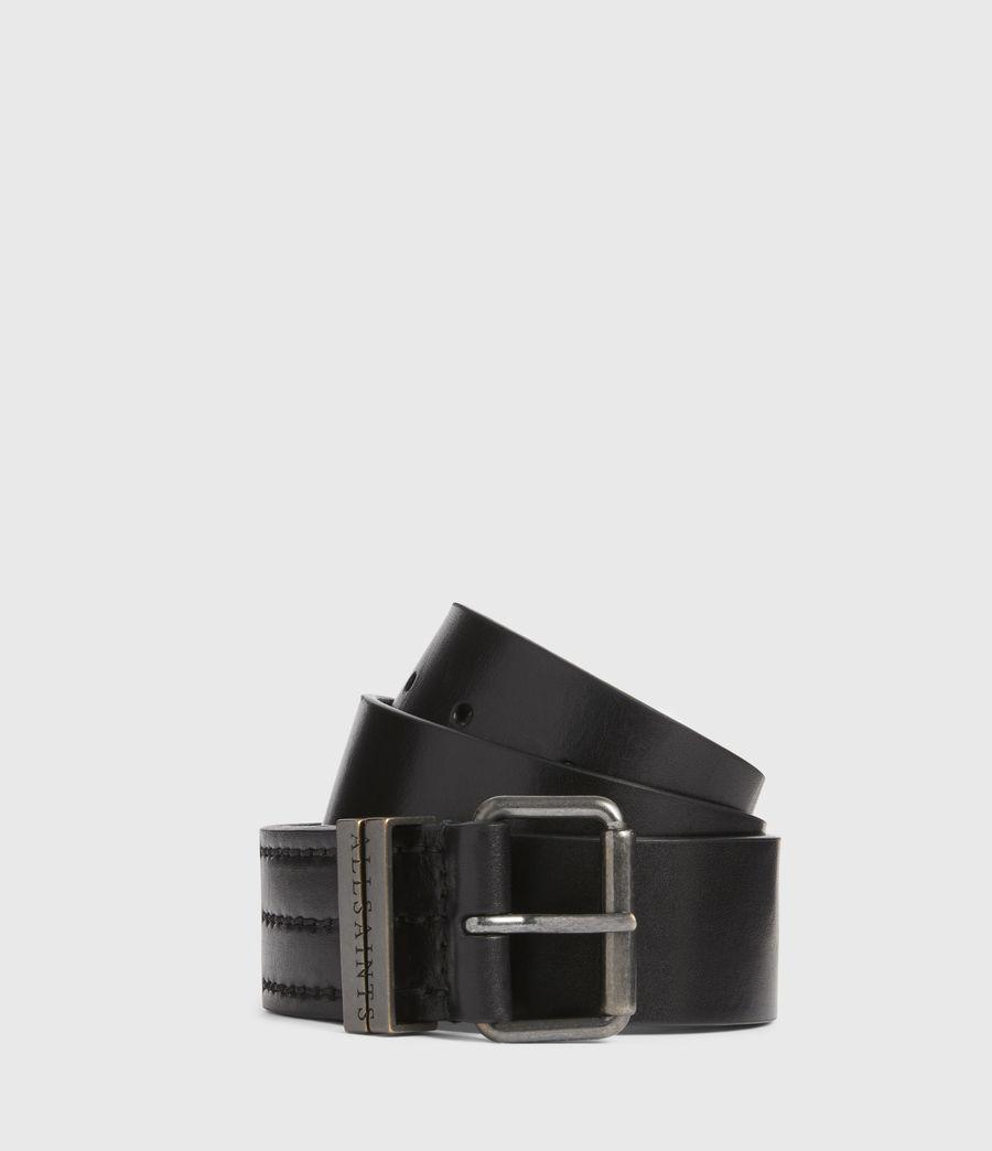 Men's Justin Leather Belt (black) - Image 1