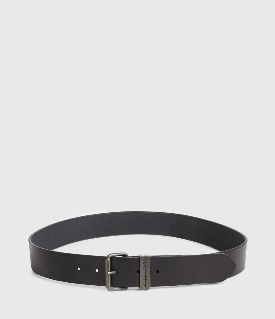 Men's Justin Leather Belt (black) - Image 4