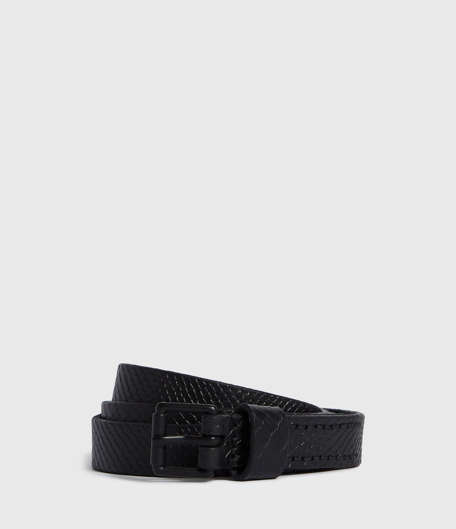 Mens Eason Leather Belt (black) - Image 1