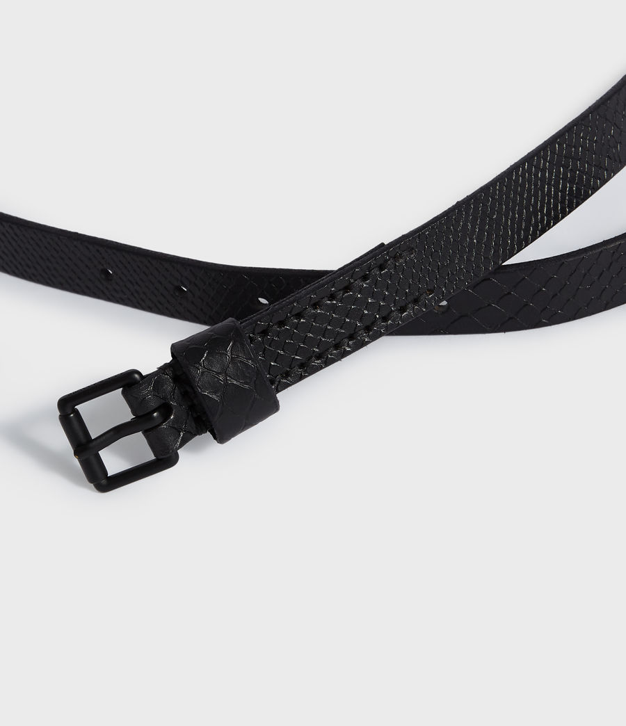 Mens Eason Leather Belt (black) - Image 3