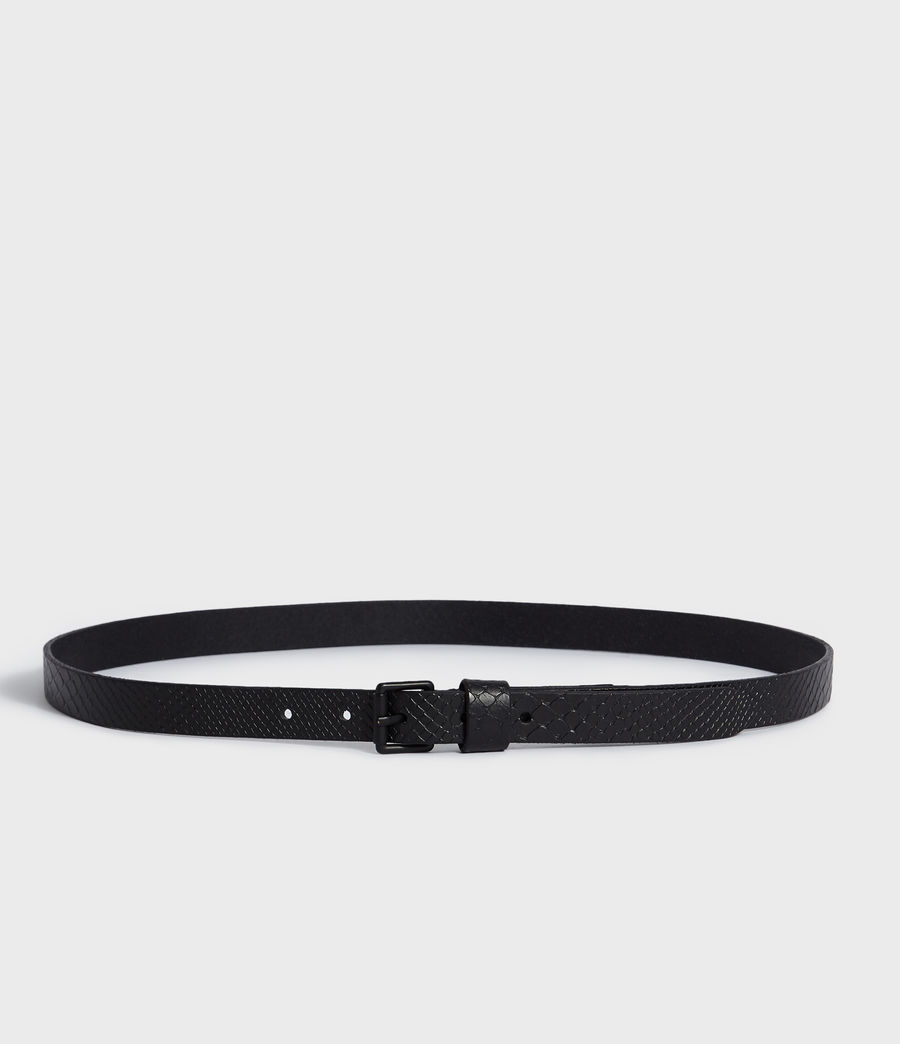 Mens Eason Leather Belt (black) - Image 4