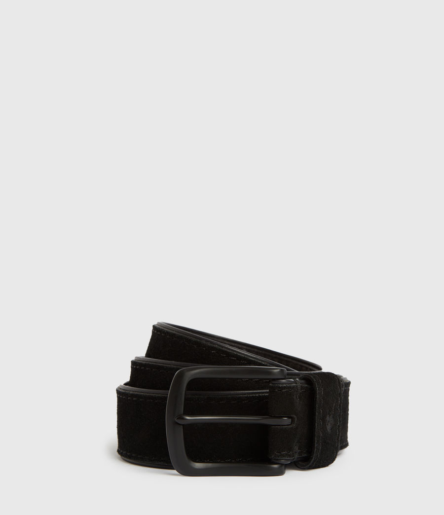 Mens Carson Leather Belt (black) - Image 1