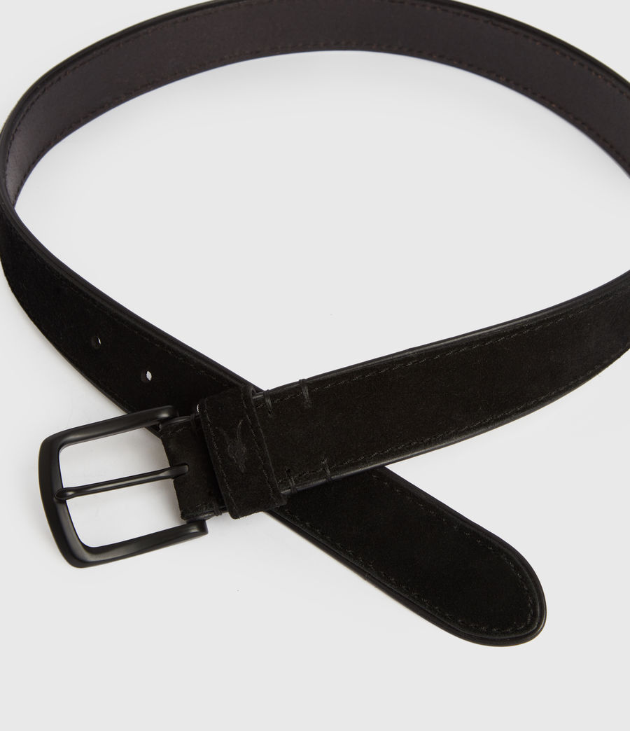 Mens Carson Leather Belt (black) - Image 3