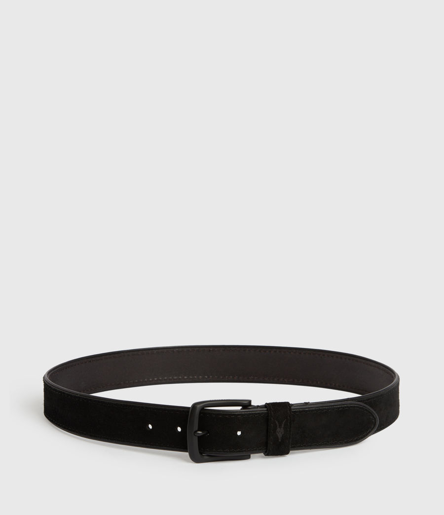 Mens Carson Leather Belt (black) - Image 6