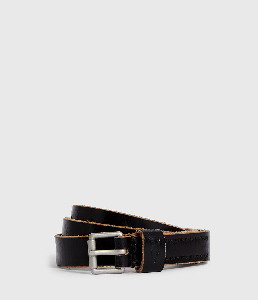 Mens Zeph Leather Belt (black) - Image 1