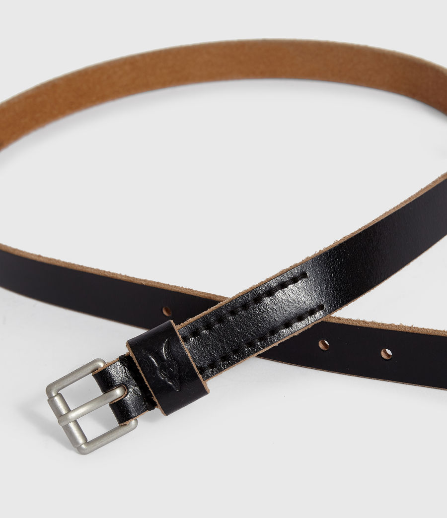 Mens Zeph Leather Belt (black) - Image 3