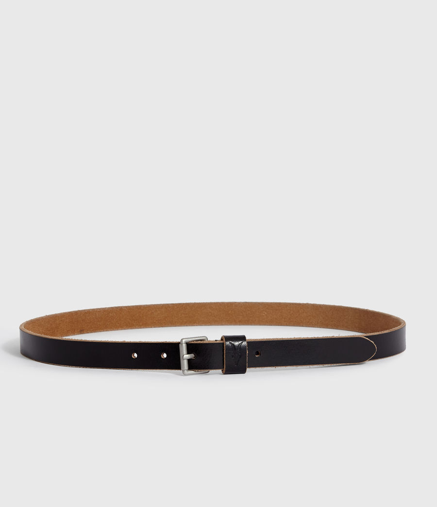 Mens Zeph Leather Belt (black) - Image 5
