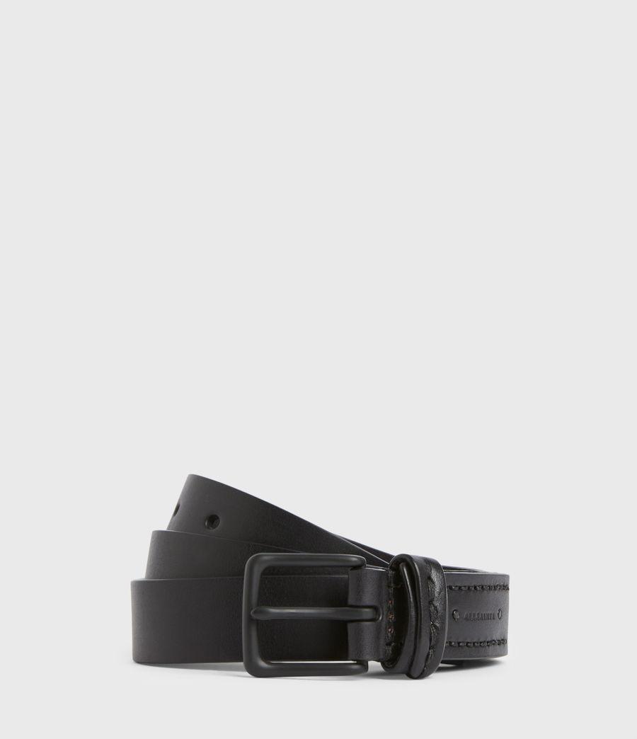 Hommes Thorn Leather Belt (black) - Image 1
