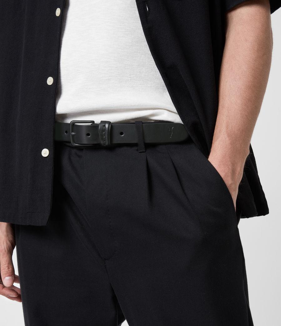 Hommes Thorn Leather Belt (black) - Image 2