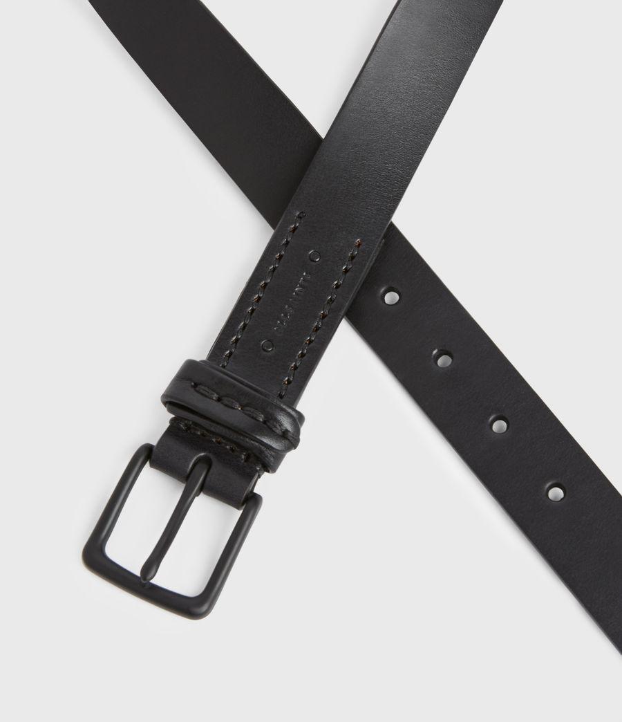 Hommes Thorn Leather Belt (black) - Image 5