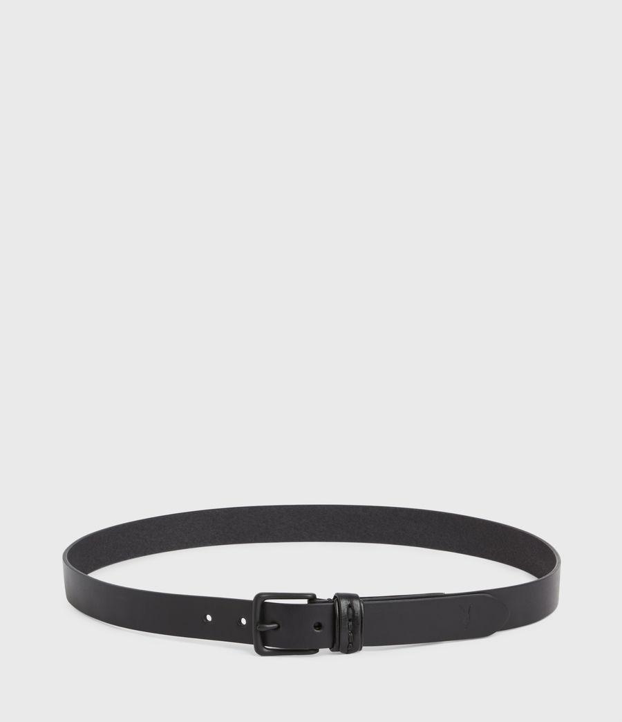 Hommes Thorn Leather Belt (black) - Image 6