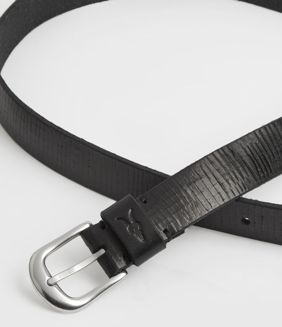 Mens Marson Leather Belt (black) - Image 3