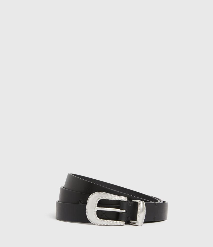 Men's Dex Leather Belt (black) - Image 1