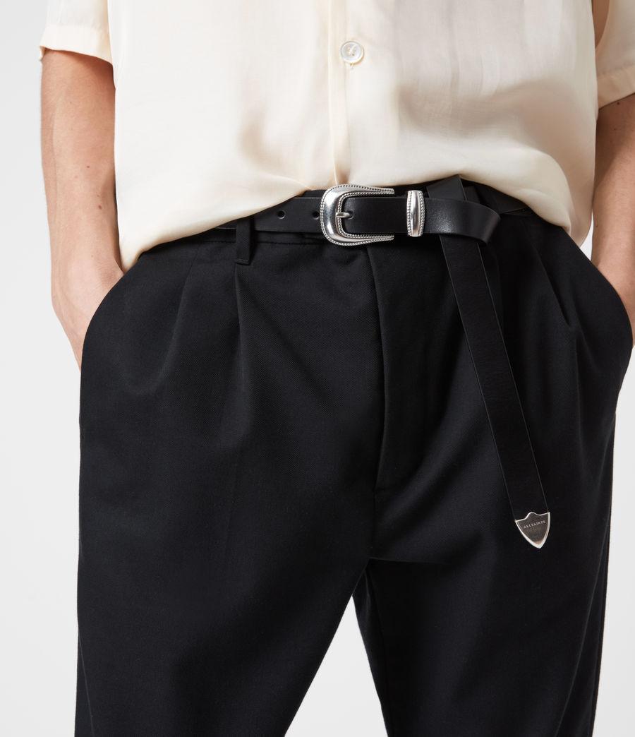 Men's Dex Leather Belt (black) - Image 2