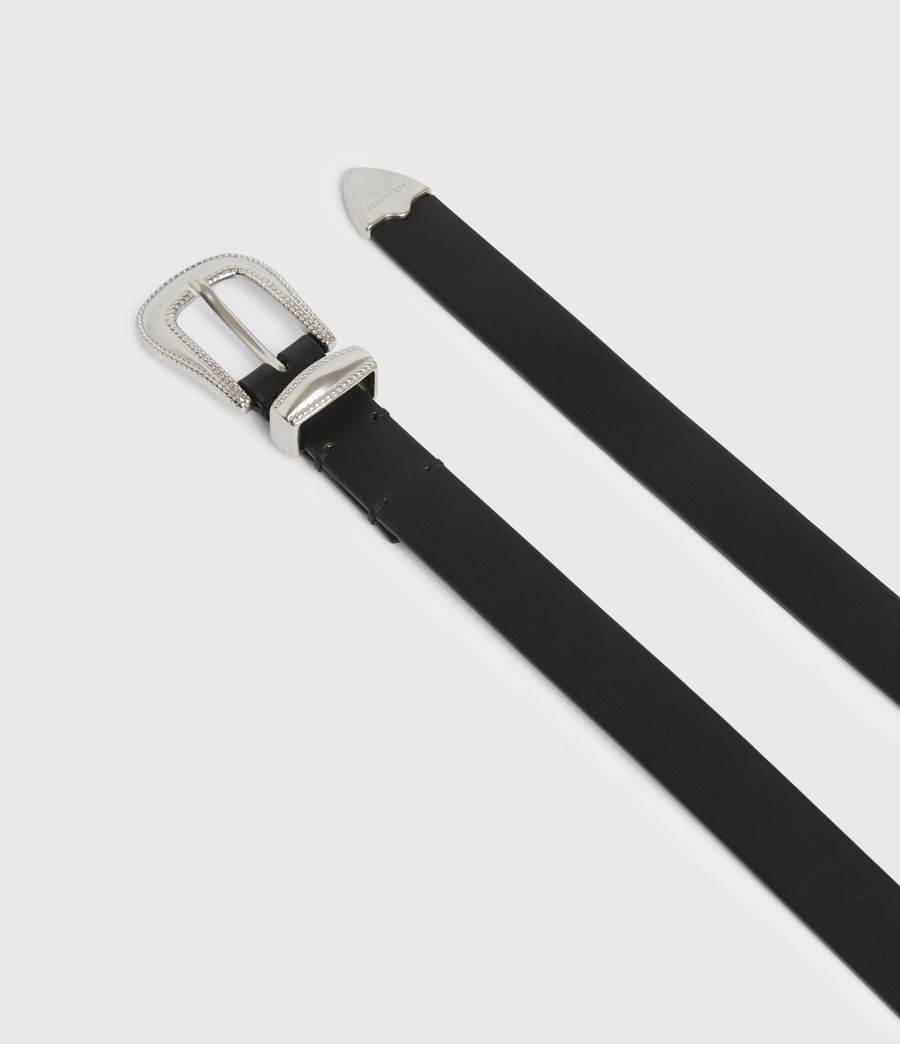 Men's Dex Leather Belt (black) - Image 3