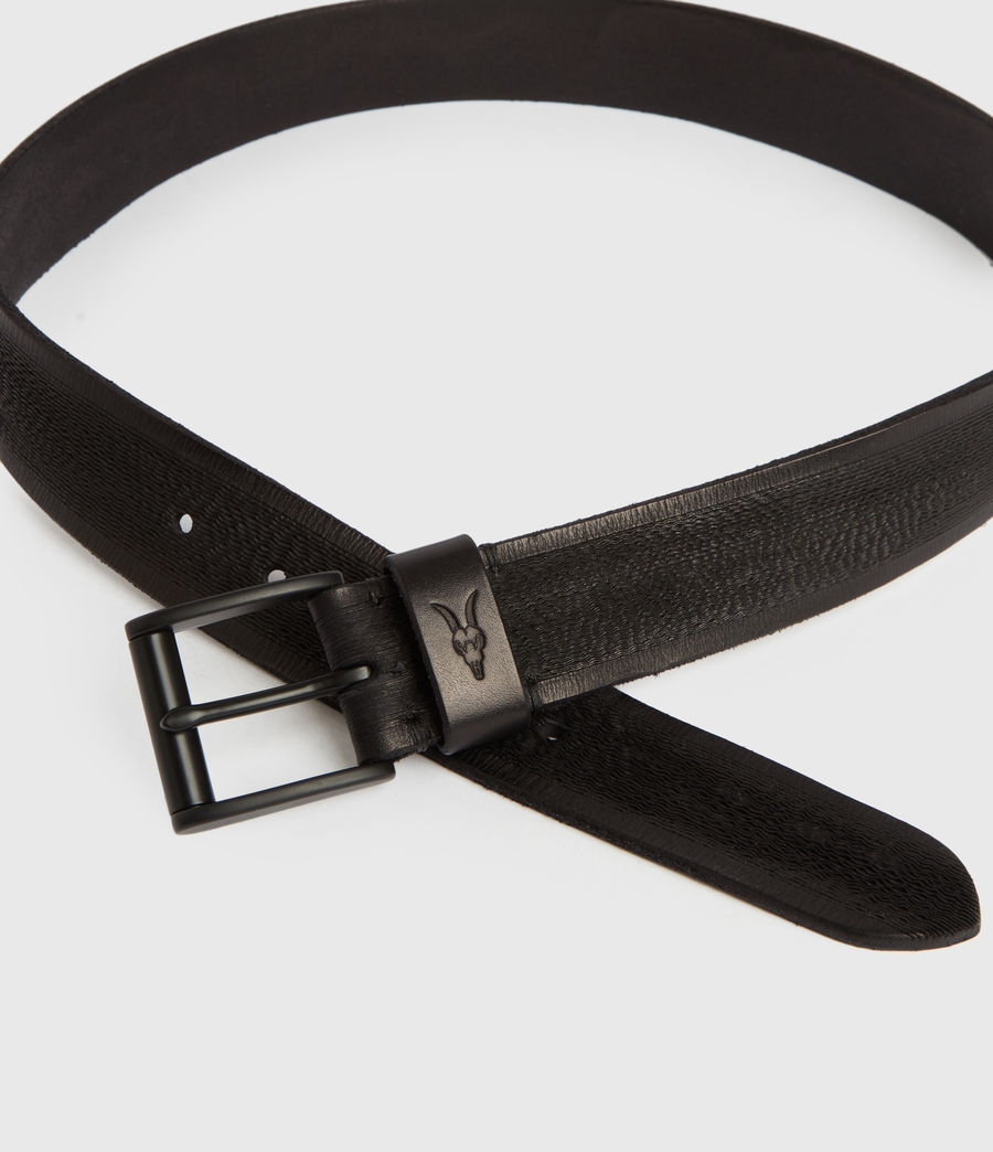Men's Kelsoan Leather Belt (black) - Image 3