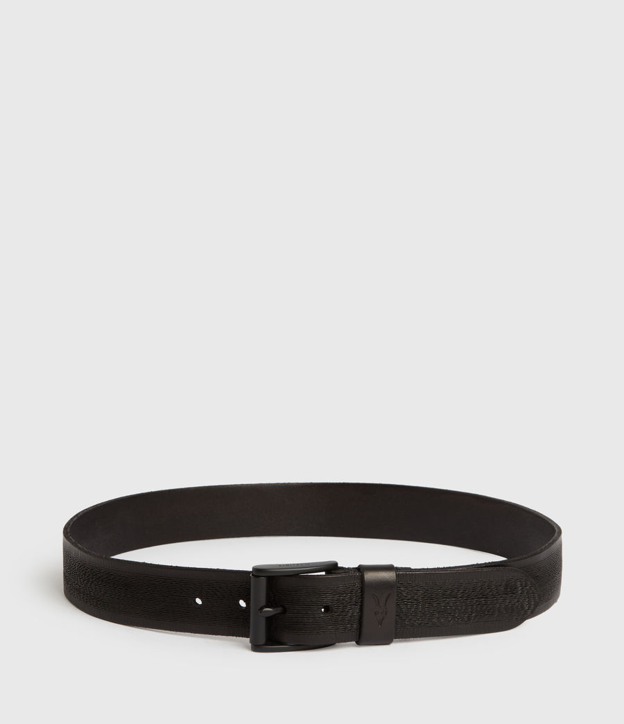 Men's Kelsoan Leather Belt (black) - Image 4