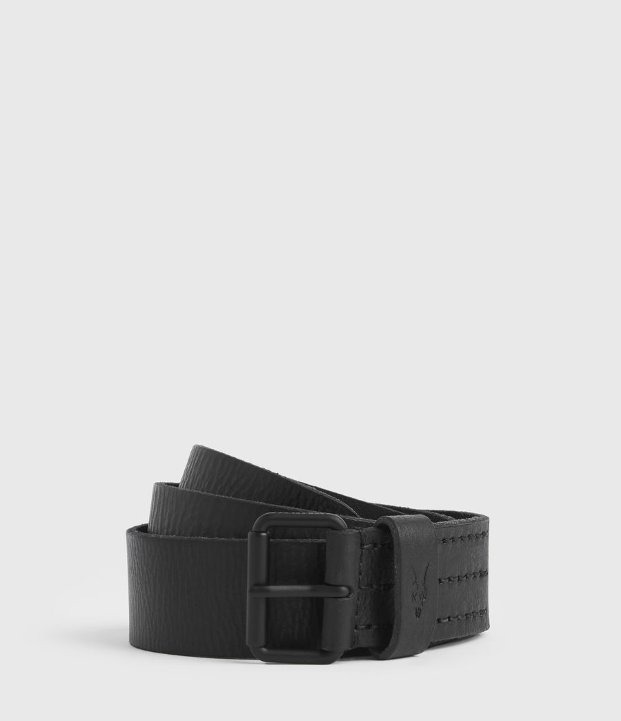 Mens Dunston Leather Belt (black) - Image 1