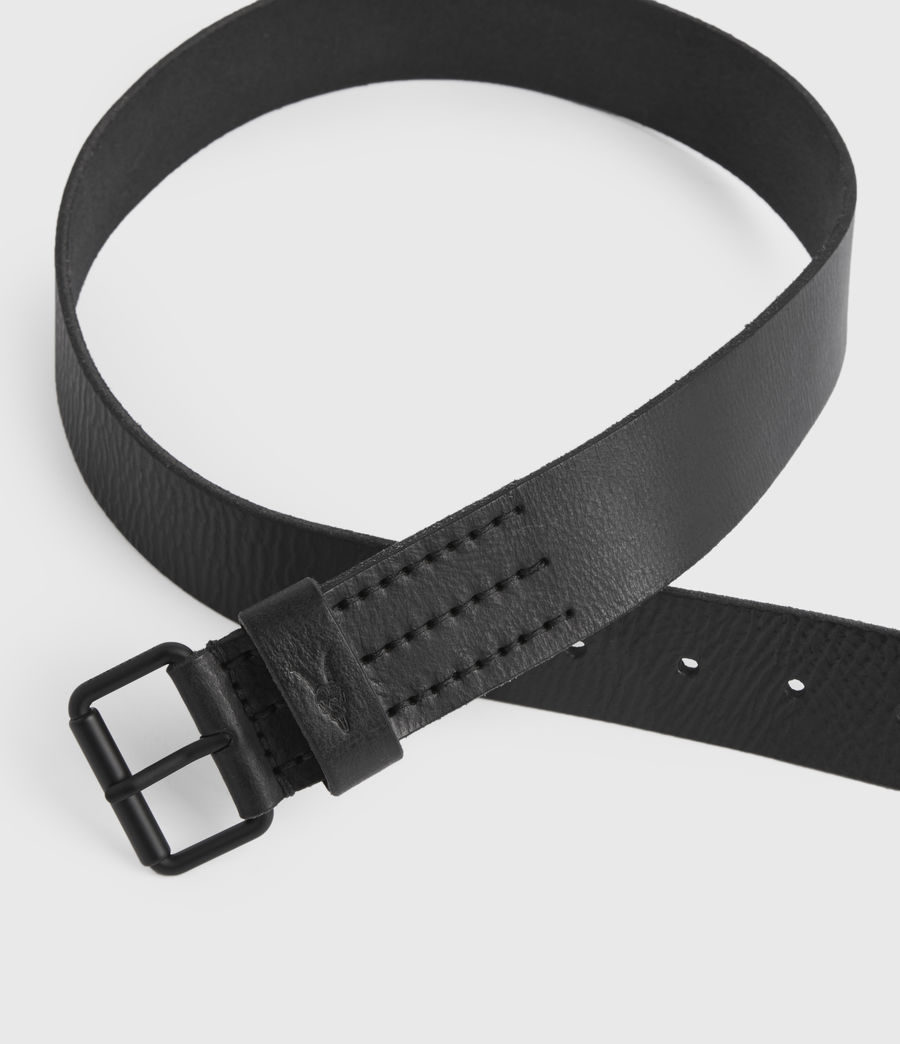 Mens Dunston Leather Belt (black) - Image 3