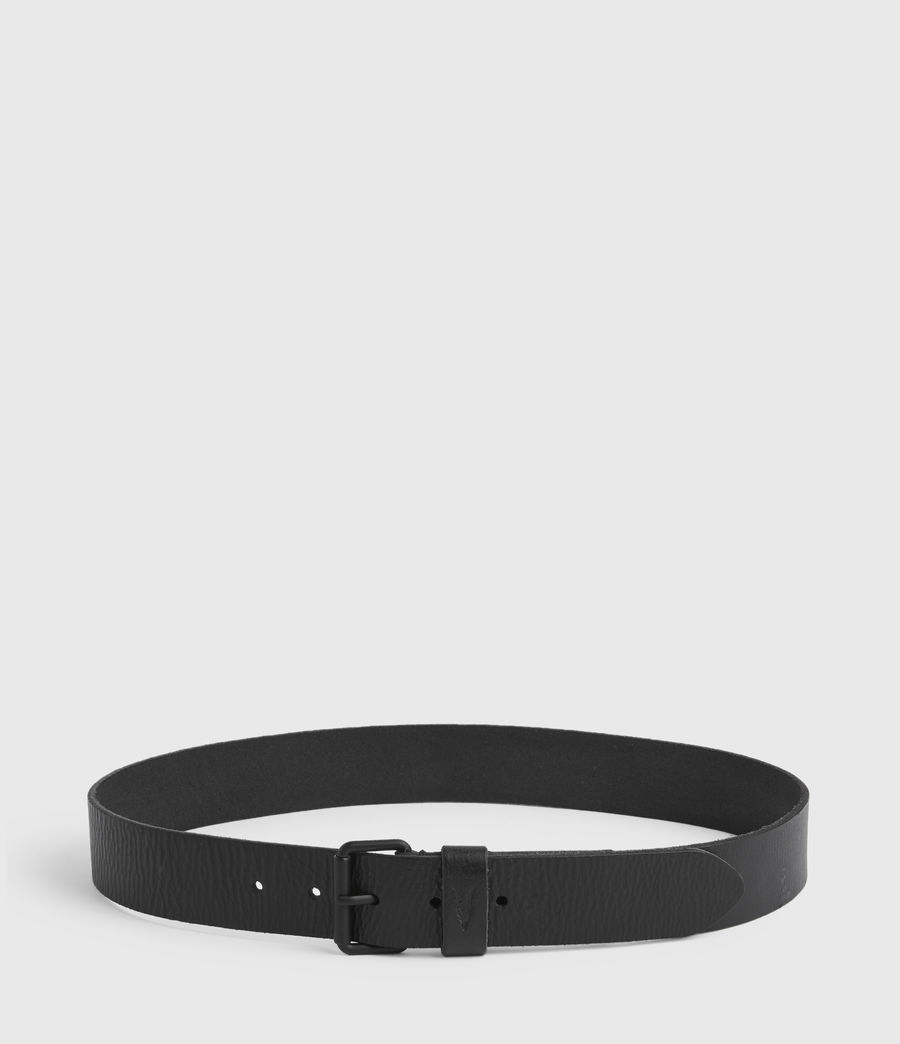 Men's Dunston Leather Belt (black) - Image 5