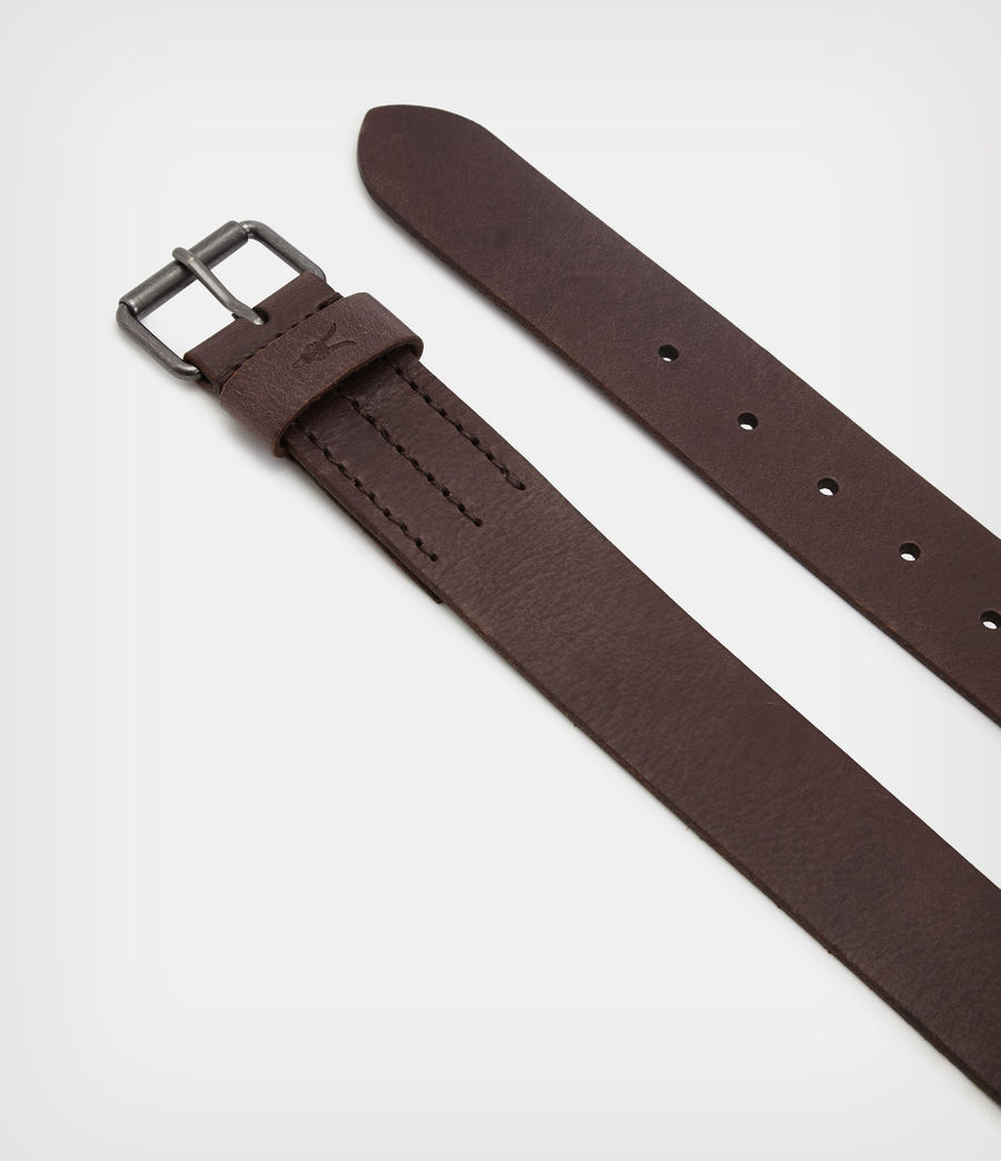 Mens Dunston Leather Belt (brown) - Image 3