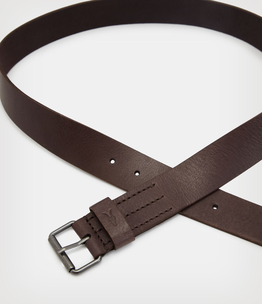 Mens Dunston Leather Belt (brown) - Image 4