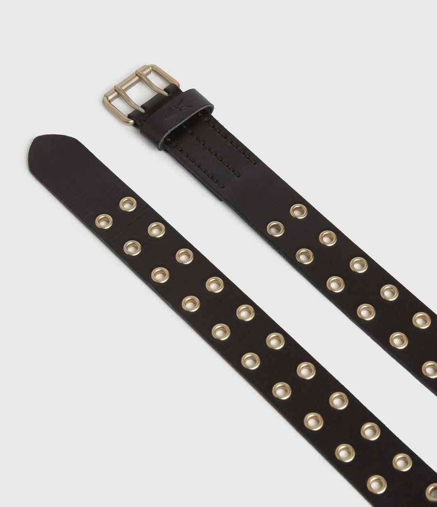 Mens Sturge Leather Belt (black_gold) - Image 2