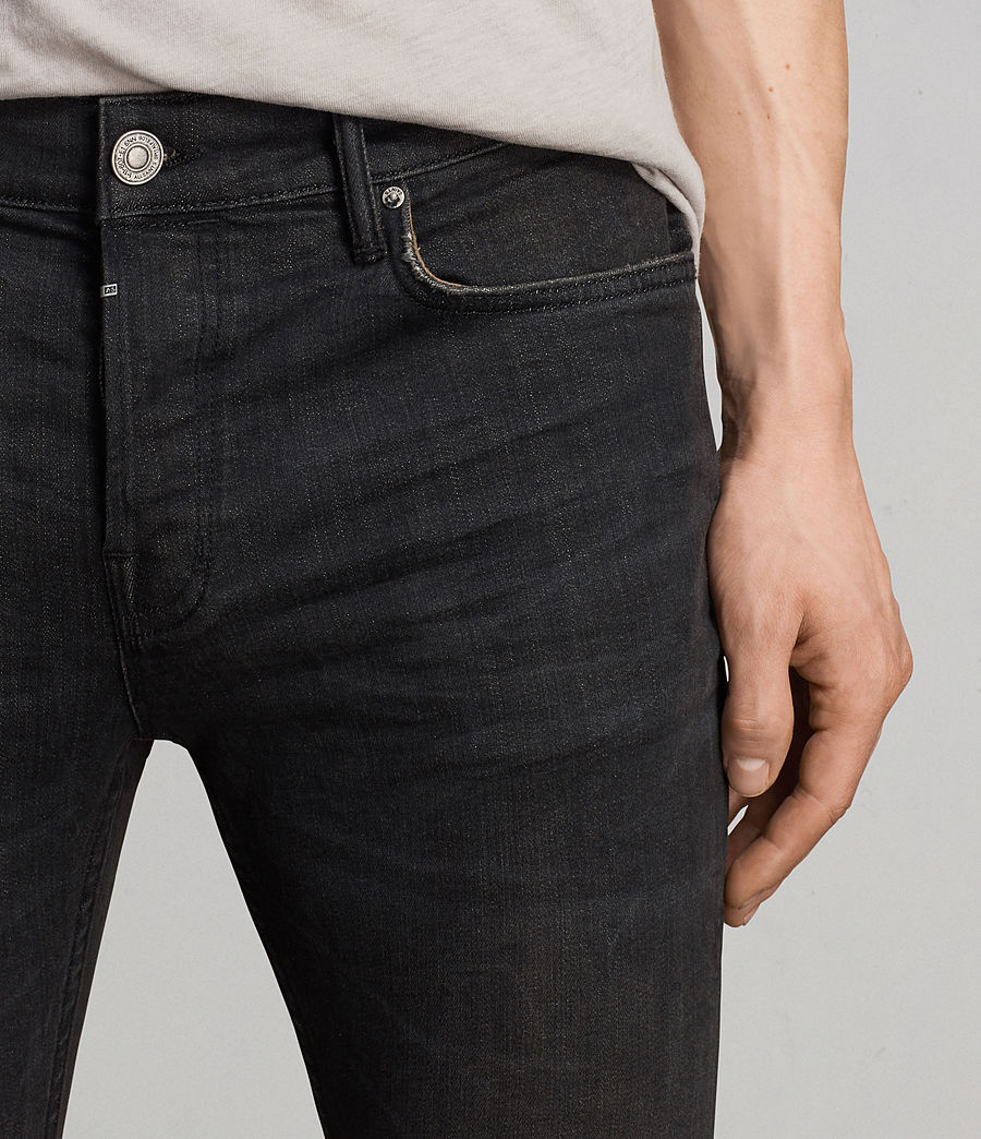 Men's Print Cigarette Skinny Jeans (black) - Image 2