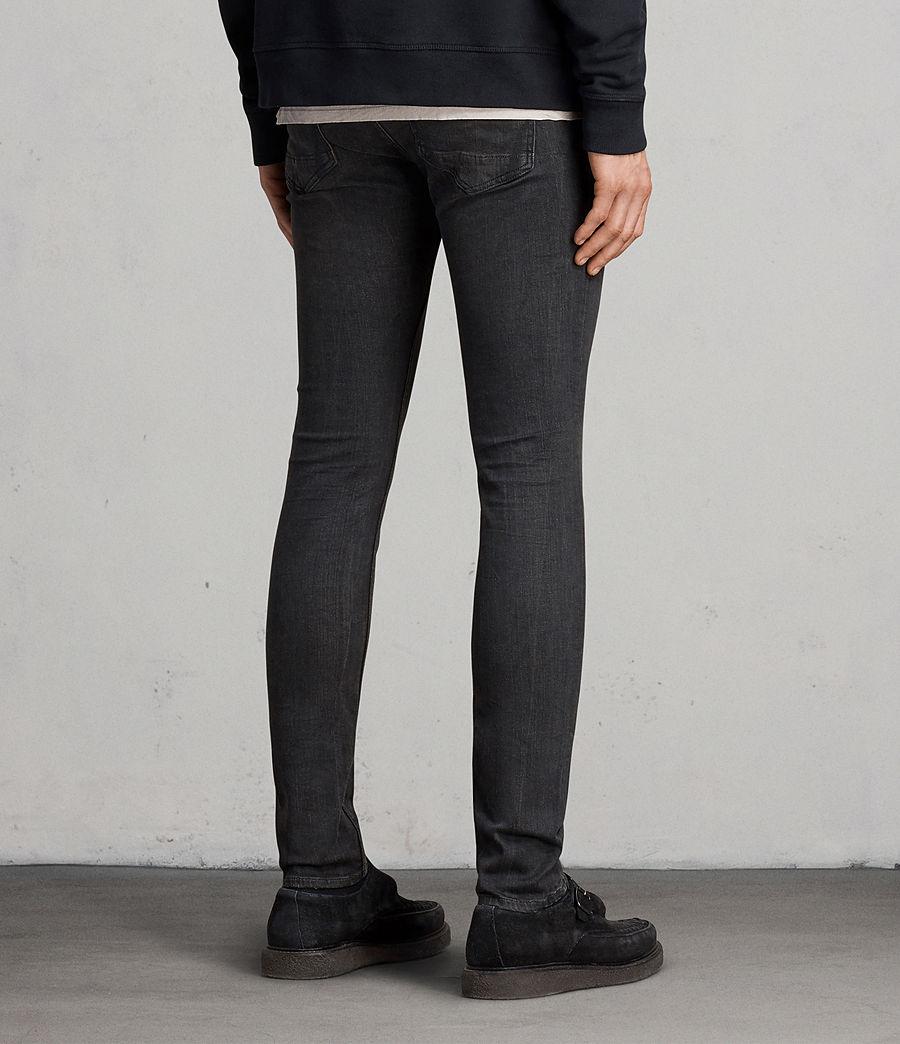 Men's Print Cigarette Skinny Jeans (black) - Image 4