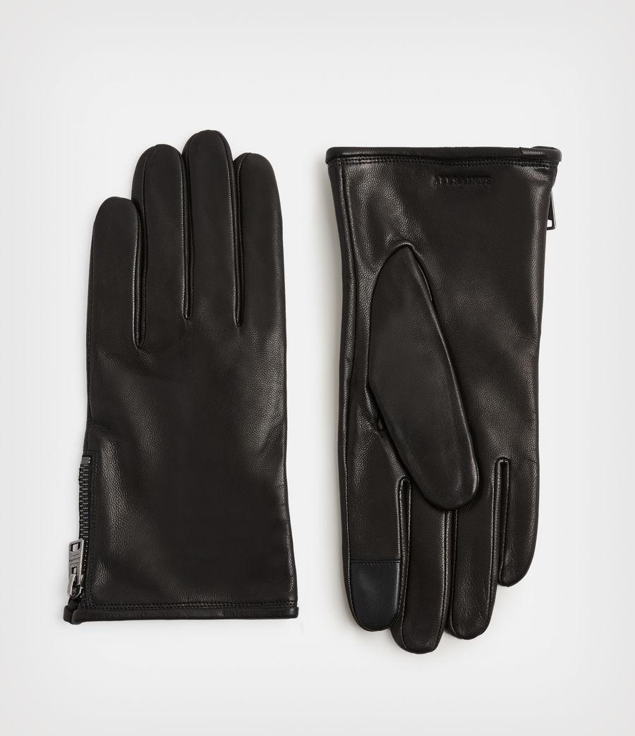 Men's Dylan Leather Gloves (black) - Image 1