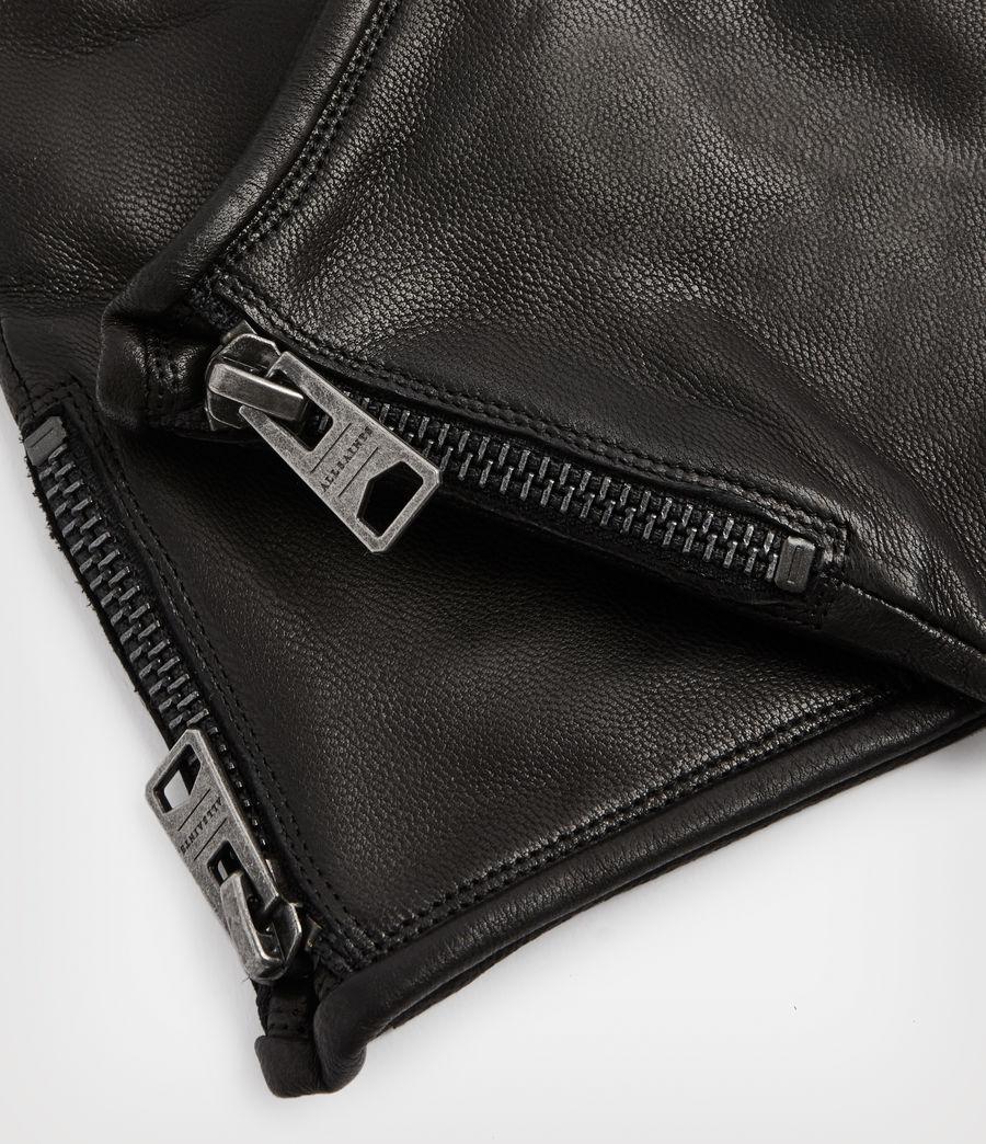 Men's Dylan Leather Gloves (black) - Image 2