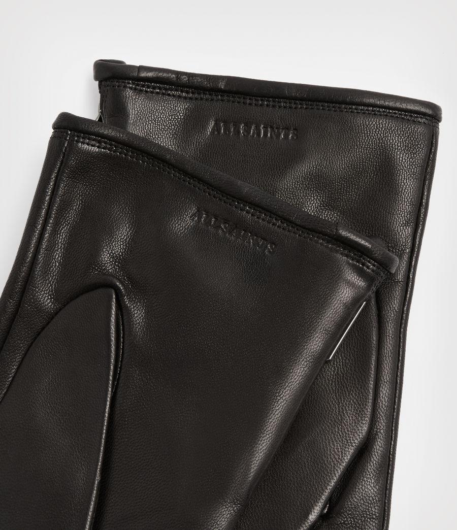 Men's Dylan Leather Gloves (black) - Image 3
