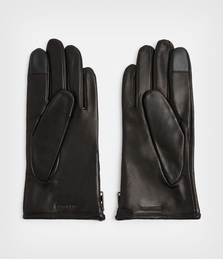 Men's Dylan Leather Gloves (black) - Image 4