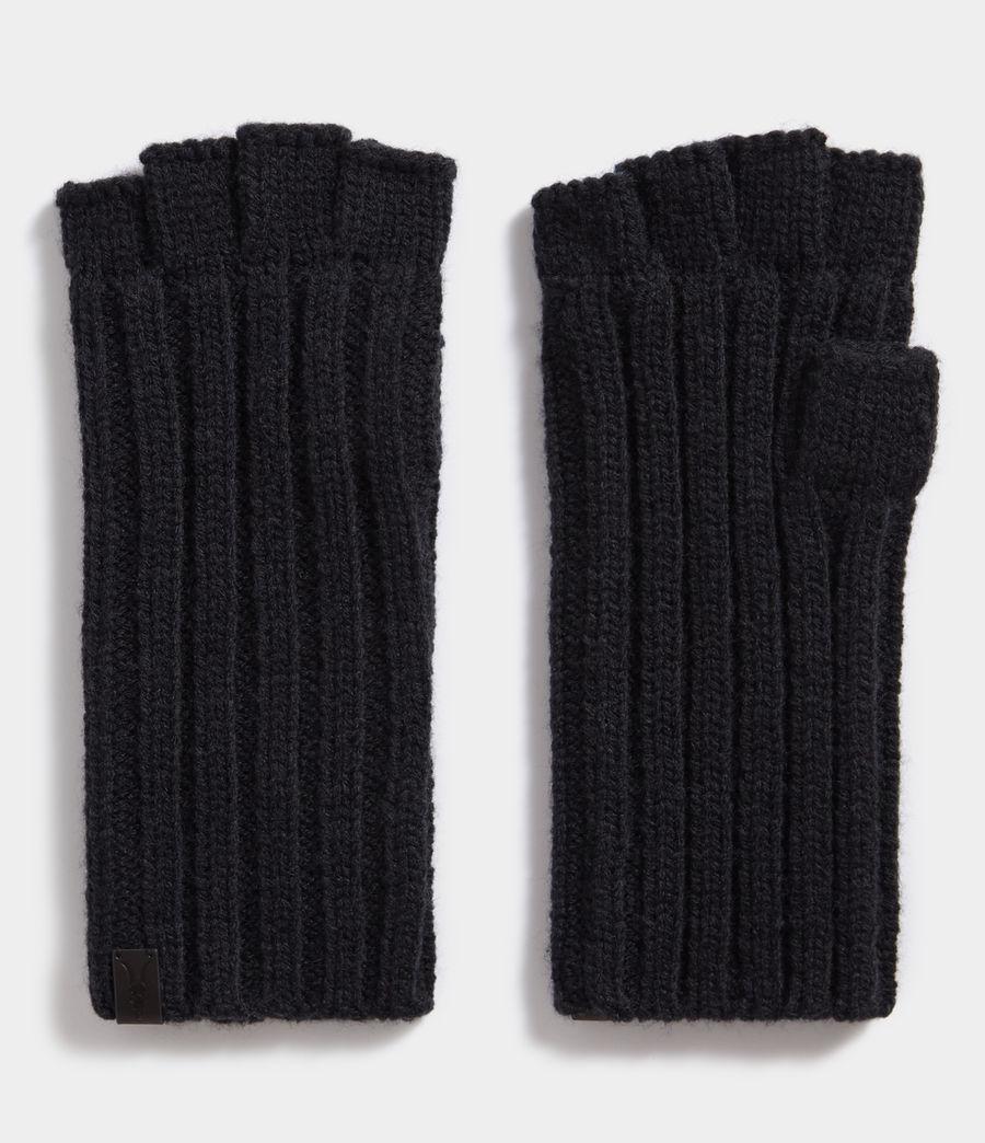 Herren Gerippte Fingerlose Handschuhe (cinder_black_marl) - Image 1