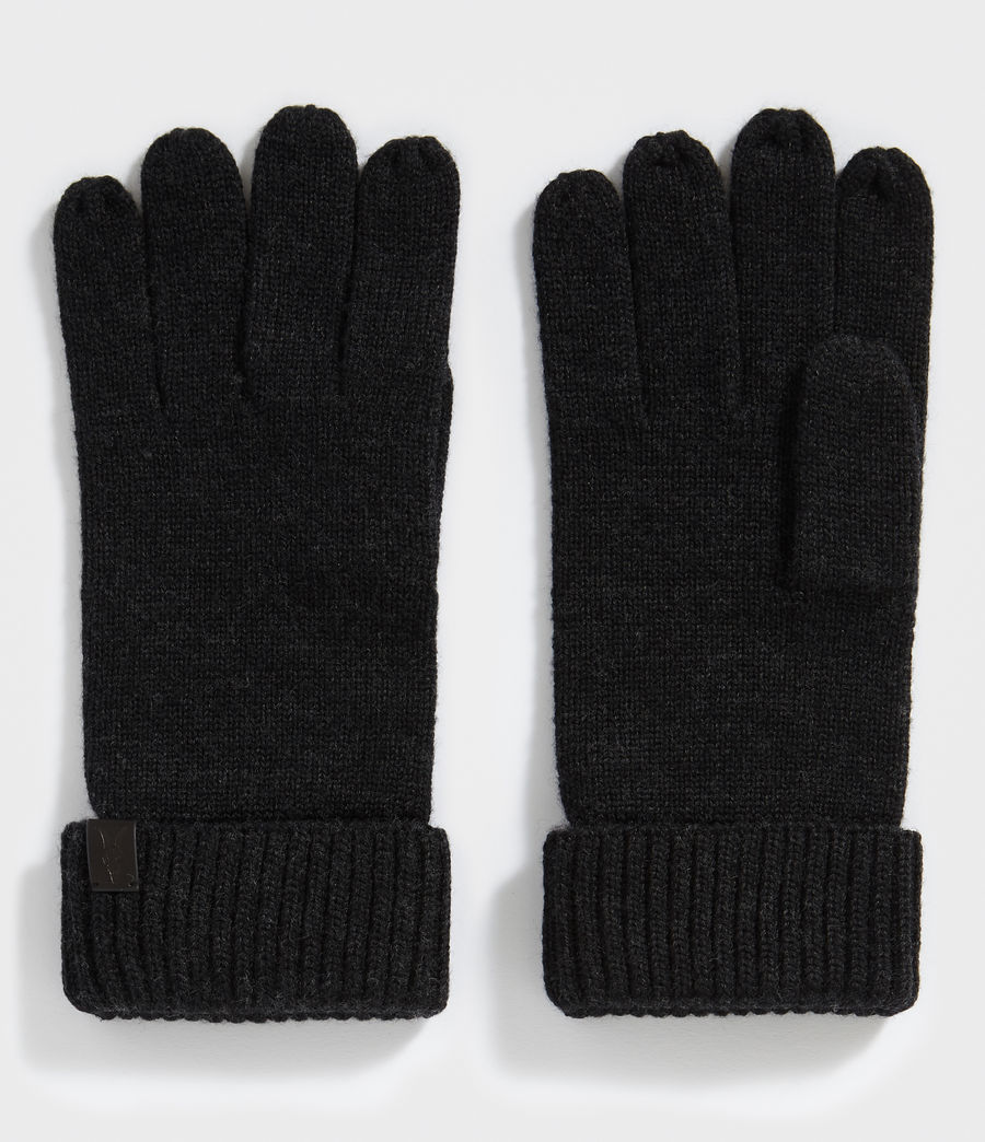 Men's Merino Gloves (cinder_black_marl) - Image 1