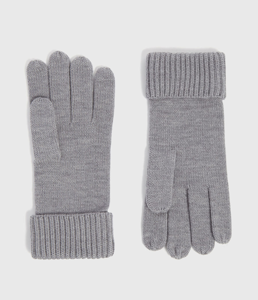 Men's Merino Wool Gloves (grey_marl) - Image 1