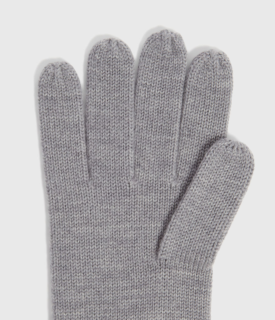 Men's Merino Wool Gloves (grey_marl) - Image 3