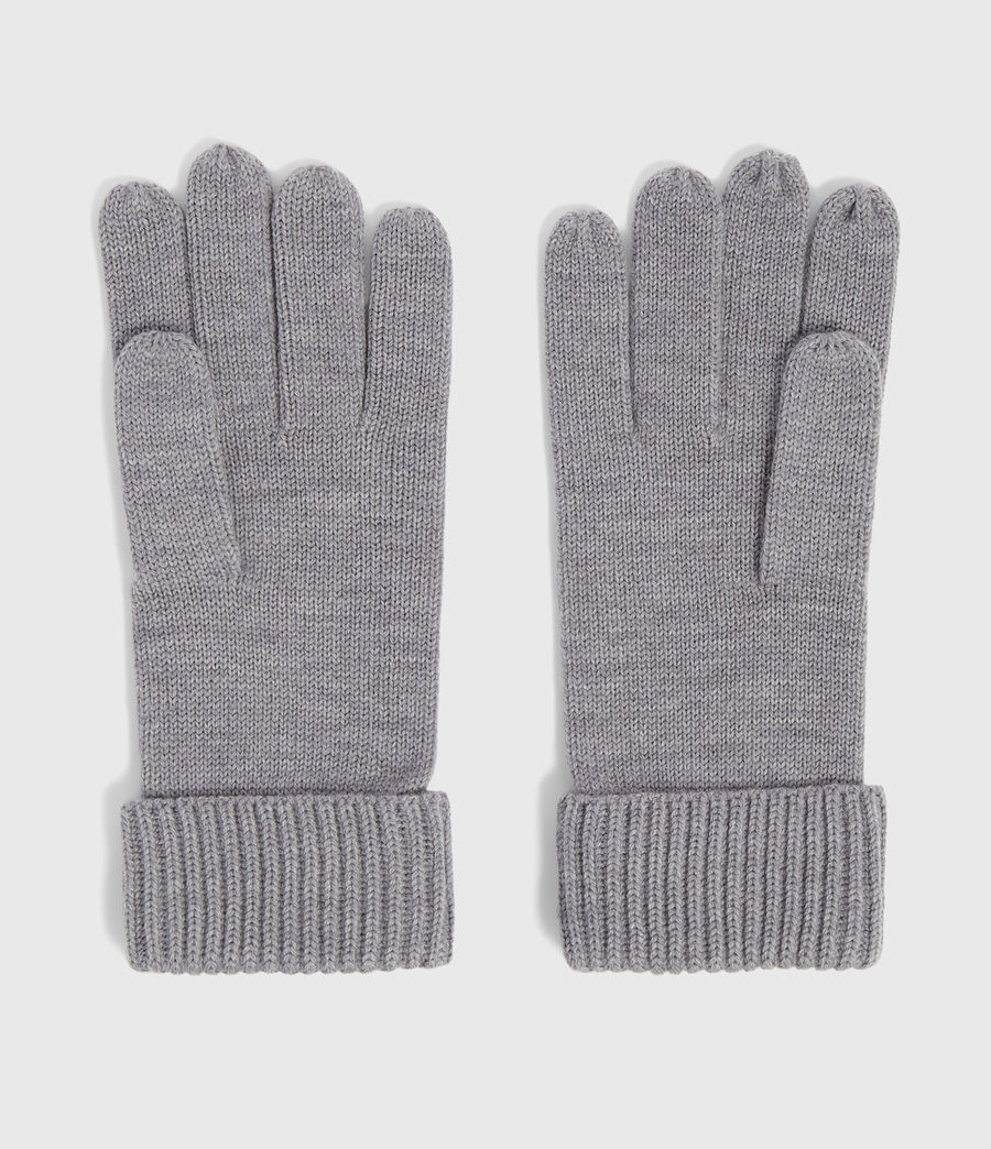 Men's Merino Wool Gloves (grey_marl) - Image 4