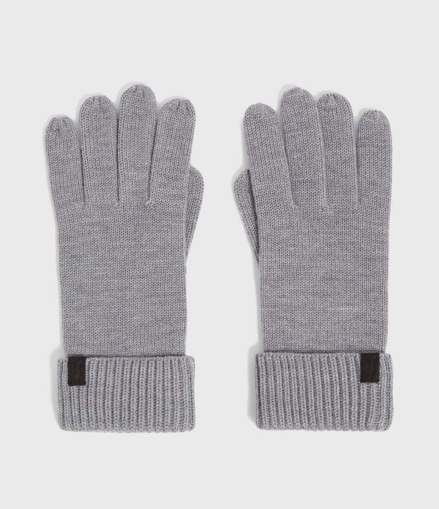 Men's Merino Wool Gloves (grey_marl) - Image 5