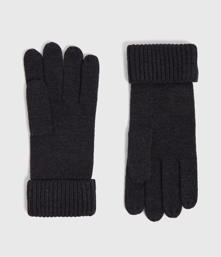 Men's Merino Wool Gloves (cinder_black_marl) - Image 1