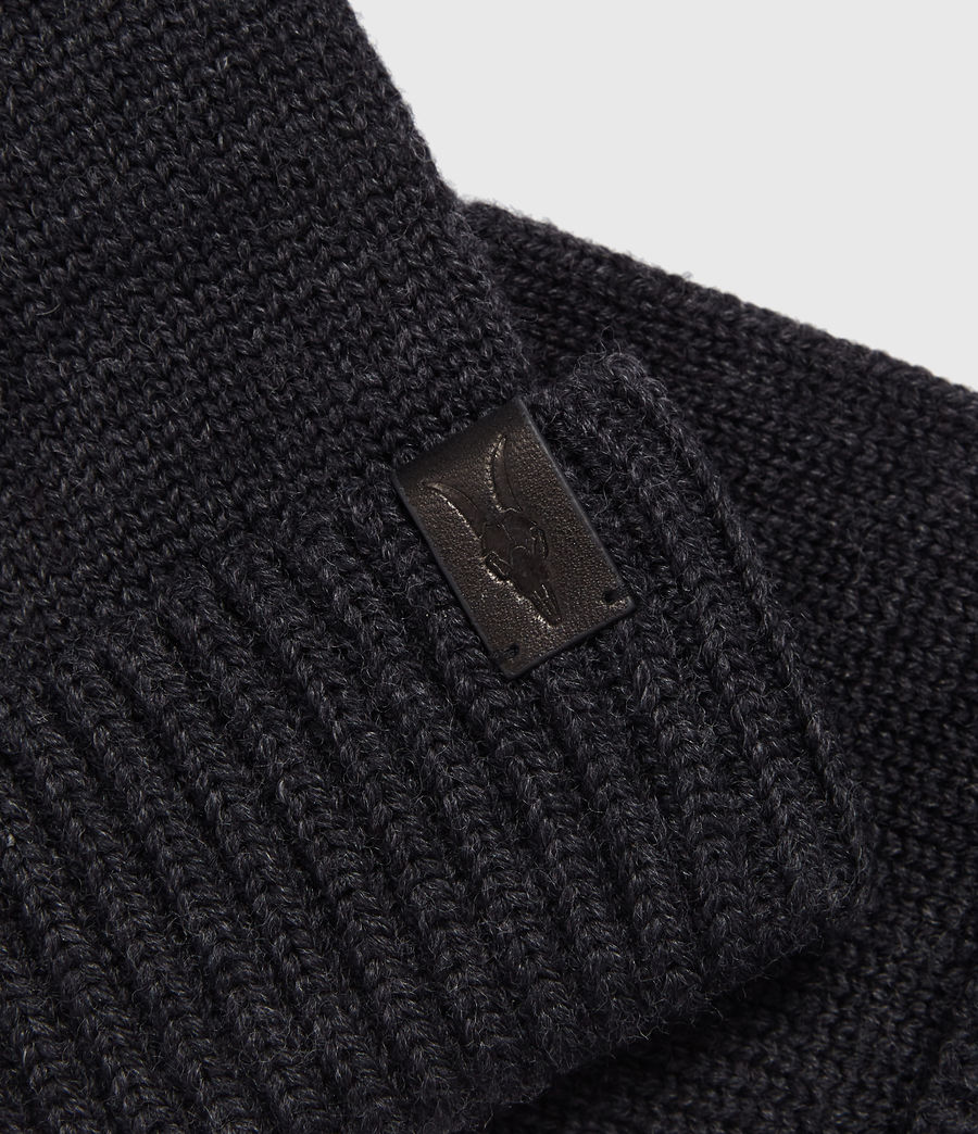 Men's Merino Wool Gloves (cinder_black_marl) - Image 2